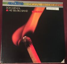 DON MENZA & HIS '80's BIG BAND Burnin' LP Realtime audiophile