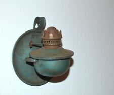 Genuine Antique Vintage Kerosene Oil Table Lamp or Wall Primitive metal