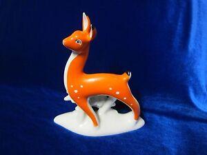 VINTAGE Porcelain Figurine Soviet big deer made on Gorodnitskyy russian antique