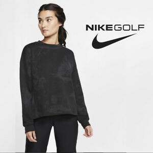 Nike Women's Dri-FIT UV UPF 40+ French Printed Golf Pullover Black size Small
