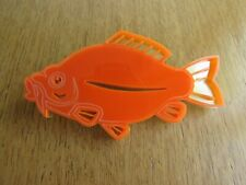 Large orange acrylic goldfish brooch