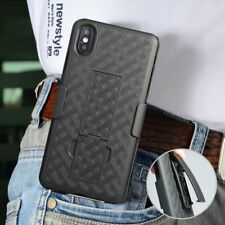 Rugged Armor Robot PC Stand Cover Case With Belt Clip For iPhone XS Max Samsung
