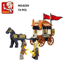 Sluban B0259 Three Kingdoms Carriage Figure Building Block Toy blocks toys