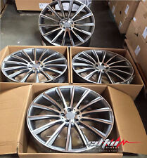 """22"""" Staggered Wheels For Mercedes S550 S600 S63 CL500 CL600 CL63 Rims Set Of (4)"""