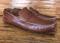 Men's Cole Haan Casual Driving Moc Loafers Brown Leather Size 10 M