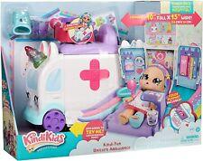 Kindi Kids Hospital Corner Unicorn Ambulance Hospital Playset with Huge Playmat
