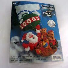 Design Works Crafts Christmas Felt Stocking Kit Santa and Bears Hot Air Balloon