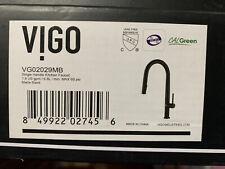 Vigo Greenwich Vg02029Mb - Single Handle Pull Down Kitchen Faucet Matte Black