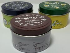 Mrs. Meyer's Soy Candle Tins (3) 2.9oz. Made with Essential Oils