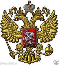 RUSSIAN COAT OF ARMS BUMPER STICKER TOOLBOX HELMET STICKER DIE CUT LAPTOP DECAL