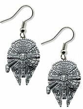 Star Wars Millennium Falcon Dangle Earrings W/Gift Box Han Solo Superhero / Hero