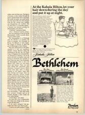 Kahala Hilton Waikiki Hawaii - Bethlehem Jordan the Holy Land 1967 Print Ad
