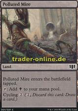4x Polluted Mire (Schmutziges Schlammloch) Commander 2014 Magic