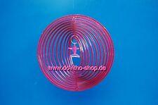 Windspierale, Unruhe, Deko, Windspiel Twister mit  Delphin, ca. 20 cm in Rot