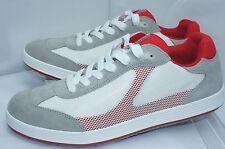 New Prada Men's Shoes White Sneakers Tennis Size 9 Red Rete Sailing