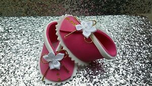 SHOES CAKE TOPPER for Baby Shower, Christening, Pink, Bootie Favor Boxes,Party