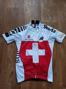 Assos Suisse Swiss Team Cycling Shirt Jersey Size S