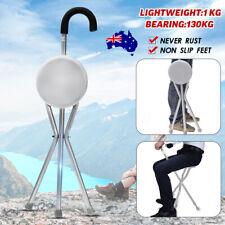 Folding Lightweight 1kg Cane Seat Mobility Walking Camping Stick Tripod Stool