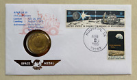 USA - Numisbrief - 1986 - Space Medal Brief - Apollo 15 / Metall war im All