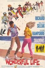 WONDERFUL LIFE original 1964 one sheet movie poster CLIFF RICHARD/THE SHADOWS