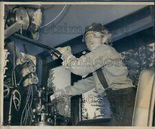 1972 White Mountain Scenic Railroad Engineer Pam Wingo Press Photo