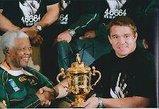 John SMIT Hand Signed Autograph 12x8 Photo AFTAL COA with Nelson Mandela Genuine
