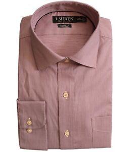 Lauren Ralph Lauren Dress Shirt Mens Long Sleeves Classic Fit Non Iron Cotton