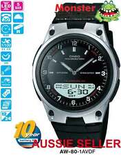AUSSIE SELLER CASIO AW-80-1AV AW80 WORLD TIME TELEMEMO 12 MONTH WARRANTY