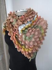 UNIQUE* Handmade shibori bubble scarf / shawl