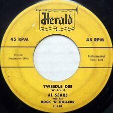 AL SEARS 45 Tweedle Dee / Goin' Uptown HERALD Instrumental R&B BB2100