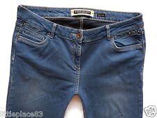 River Island Ladies Jeans Size 14 R skinny leg bright pretty blue mid rise 34/31