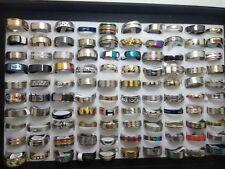 Lot de 100 acier inoxydable anneaux ring bagues Bijoux mariage fiançailles Bague