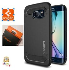 Custodia Galaxy S6 Edge Spigen Rugged Armor Impressionante Black Design Mecc