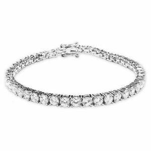 4.30 Ct Round Moissanite 10K White Gold 7 Inch Tennis Bracelet Width 2.5 MM