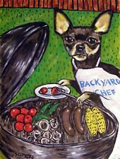 CHIHUAHUA dog 8x10  art artist print animals impressionism cook out new