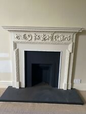 More details for antique georgian carved pine fireplace surround