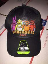 NWT FIVE NIGHTS AT FREDDY'S YOUTH HAT BONNIE CHICA FREDDY FOXY I SHIP EVERYDAY