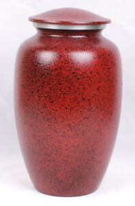 Large Cremation Urn for Ashes Adult Funeral Memorial Urn Red Aluminium Urn NEW
