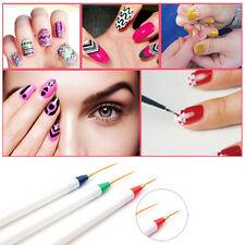 3Pcs/Set Nail Art Liner Brush Ultra-thin Line Drawing Painting Pen Manicure Tool