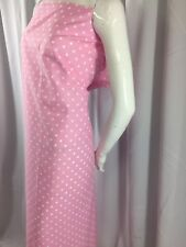 Poly Cotton Fabric - By The Yard 2 Tones Pink-white Dress-Wedding Decoration