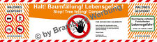 Absperrbanner für Forst, Holzrücker, Baumfällung, Waldarbeiten gem.WaldG (BW)