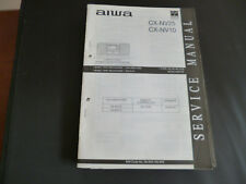 ORIGINALI service manual AIWA cx-nv25 cx-nv10