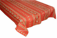 "60"" x 96"" Rectangular COATED Provence Tablecloth - Lisa Red"