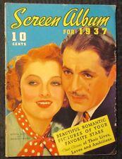 1937 SCREEN ALBUM Magazine G/VG 3.0 Myrna Loy & Warner Baxter