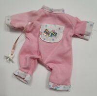 "ZAPF CREATIONS BABY CHOU CHOU CLOTHES 8"" MINI DOLL PINK & WHITE OUTFIT PACIFIER"