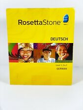 Rosetta Stone German Version 3 Levels 1,2&3 Complete! For Pc/Mac