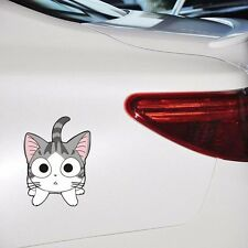 Chi Cat Big Eyes Curious Face Door Random Body Windows Car Stickers Wall Decals
