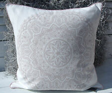 Kissenbezug LIZA Rosa 45x45 offwhite Mandala Ornamente Landhaus cushion