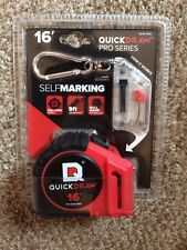 QuickDraw QD16-PRO 16' Self Marking Tape Measure, New, Free Shipping to US48!