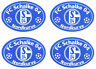 FC Schalke 04 Aufkleber 4er Set Sticker - Nordkurve - Logo #567
